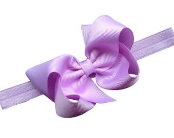 Light purple baby headband - baby girl headband, baby headband bows, newborn headband, baby bows, hair bows
