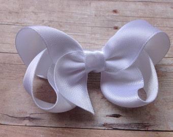 YOU PICK color satin hair bow - satin bows, bows for girls, hair clips, hair bows for girls, baby bows, baby hair bows, hairbows, toddler