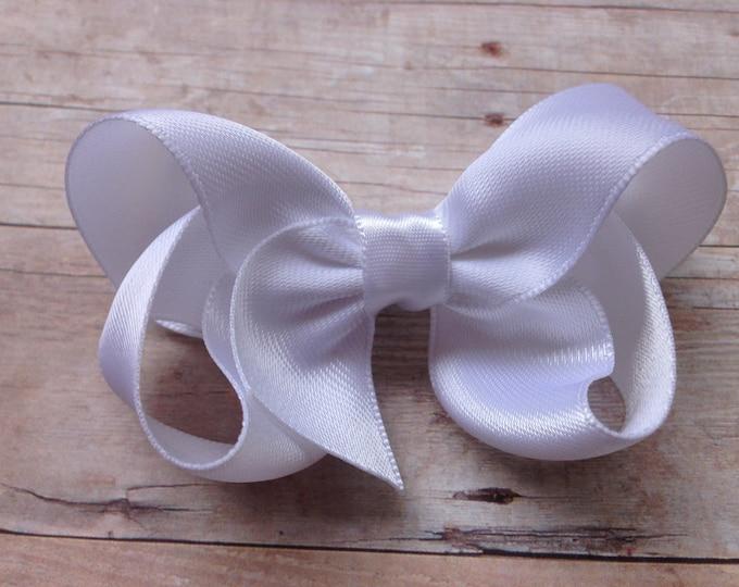 YOU PICK color satin hair bow - satin bows, hair bows, bows, hair clips, hair bows for girls, baby bows, baby hair bows, hairbows, toddler