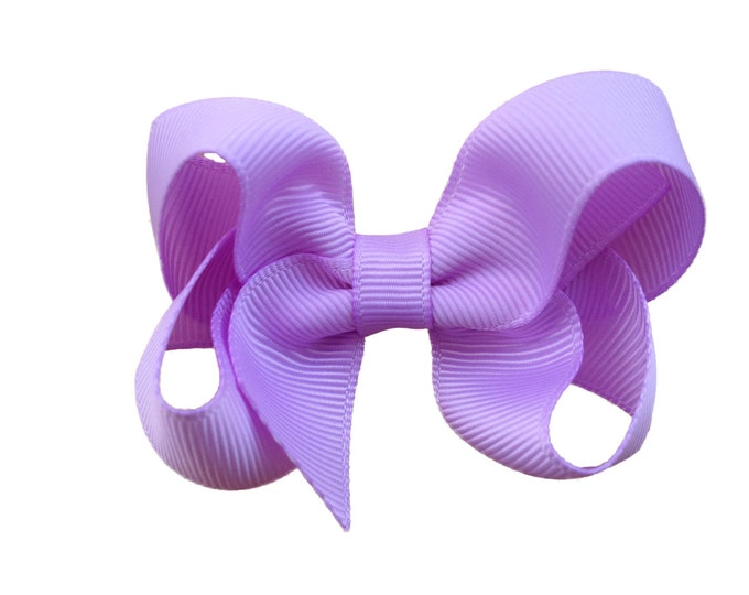 Light purple hair bow - hair bows for girls, pigtail bows, 3 inch hair bows, toddler bows
