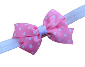 Polka dot baby headband - baby girl headband, baby headband bows, newborn headband, baby bows, baby bow headband