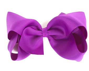 Extra large hair bow - 6 inch hair bows, hair bows, ultraviolet hair bow, cheer bows, big hair bows, girls hair bow