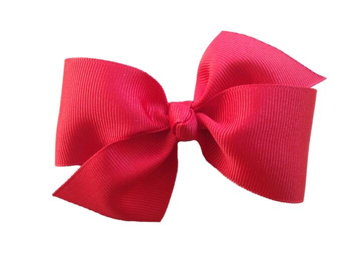 Classic hair bow - hair bows for girls, baby hair bows, toddler hair bows, 4 inch hair bows, pinwheel bows