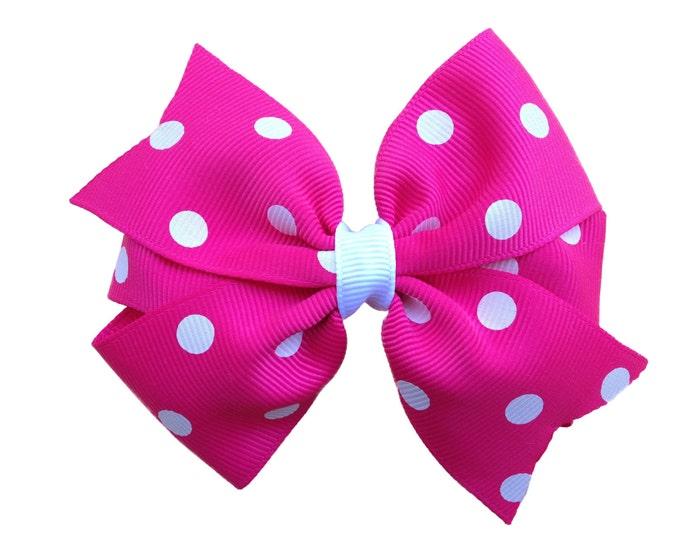 Hot pink hair bow - hair bows, girls bows, hair bows for girls, toddler bows, baby bows, hair clip, girls hair bows, hairbows