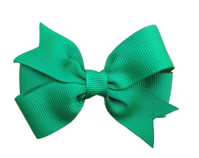 Emerald green hair bow - hair bows, bows for girls, toddler hair bows, baby bows, pigtail bows, 3 inch hair bows