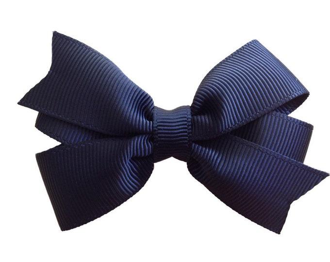 Black hair bow - hair bows, bows for girls, baby hair bows, pigtail bows, toddler hair bows, 3 inch hair bows