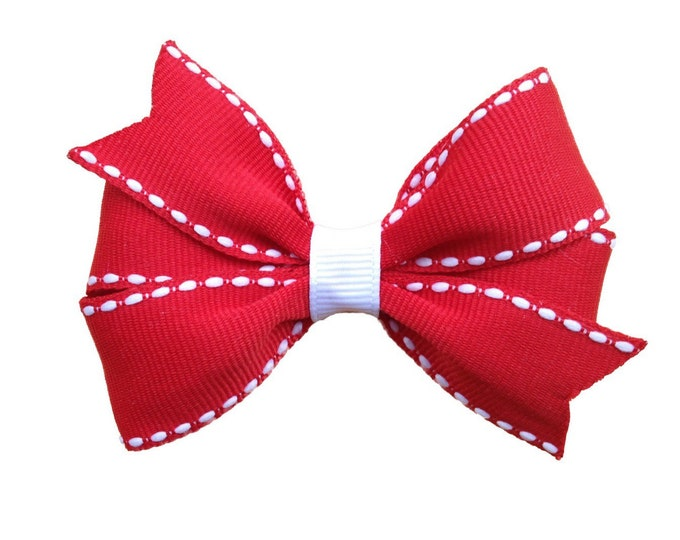 Red hair bow - hair bows, bows for girls, toddler hair bows, baby bows, girls hair bows, pigtail bows, bows for girls, hairbows