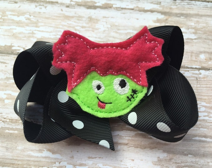 Halloween hair bow - halloween bows, hair bows, 4 inch bows, boutique hair bows, girls bows, toddler hair bows