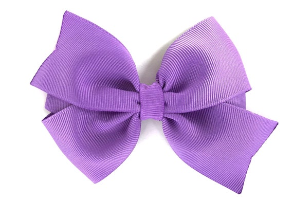 Girls' Accessories Handmade 4 Inch Hair Clip Bow Lilac Kids' Clothes, Shoes & Accs.