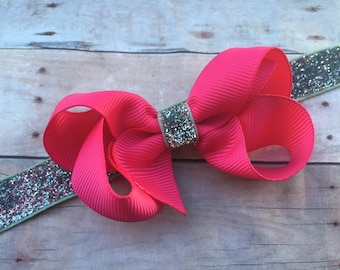 Baby headband - baby headband bows, baby girl headband, baby bow headbands, newborn headbands, baby bows, baby hair bows, bow headband, bows