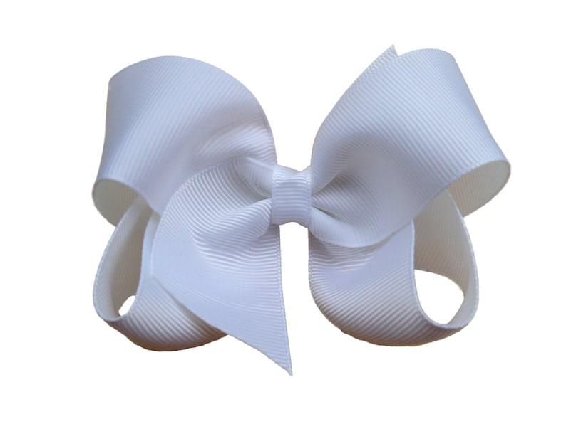 6d79867bca995 White hair bow white bows hair bows boutique bows girls