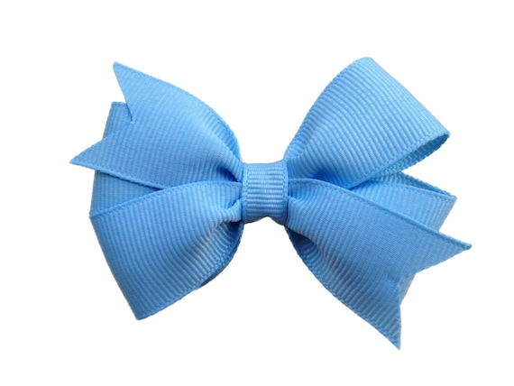 Royal Blue Monogram Infant Hair Bow