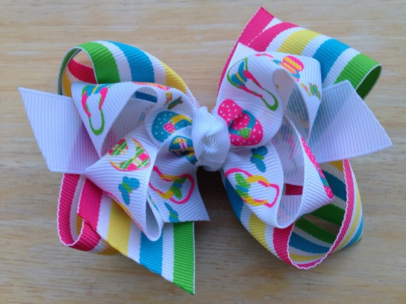 66d1dc252 Flip flop hair bow hair bows for girls baby bows toddler