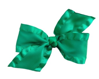 Green hair bow - hair bows, hair bow, bows, hair bows for girls, baby bows, toddler hair bows, girls hair bows, baby hair bows, hairbows