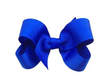 Royal blue hair bow - hair bows, bows for girls, baby bows, pigtail bows, toddler hair bows, girls bows, hair clip, hairbows