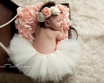 4dbdf0935 Newborn tutu set, Newborn tutu, Baby tutu set, Baby tutu, Baby photo prop,  ivory tutu set, newborn photography prop, photo prop, ivory tutu