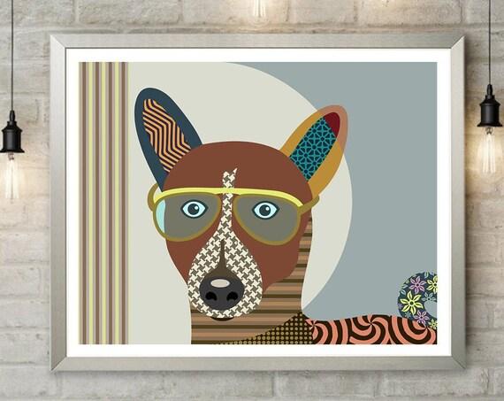 Basenji Art, African Dog Pet Portrait Doggie Drwaings