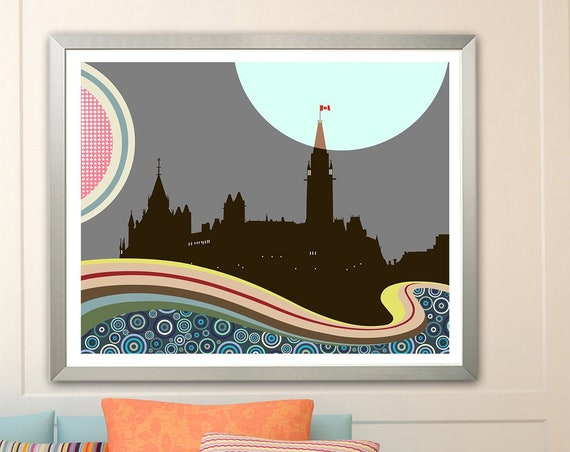 Ottawa Poster Parliament Building Canada Gift