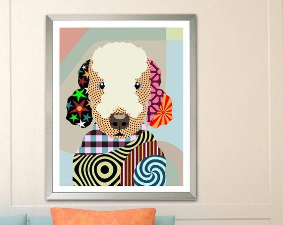 Bedlington Terrier Art, Rothbury Dog Pet Portrait