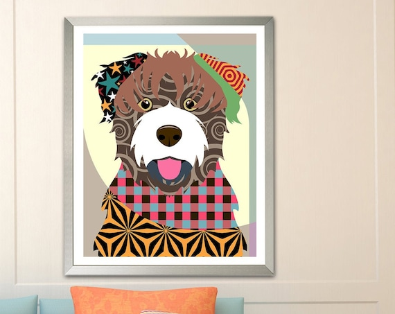 Bouvier Des Flandres, Puppy Decor Pet Portrait