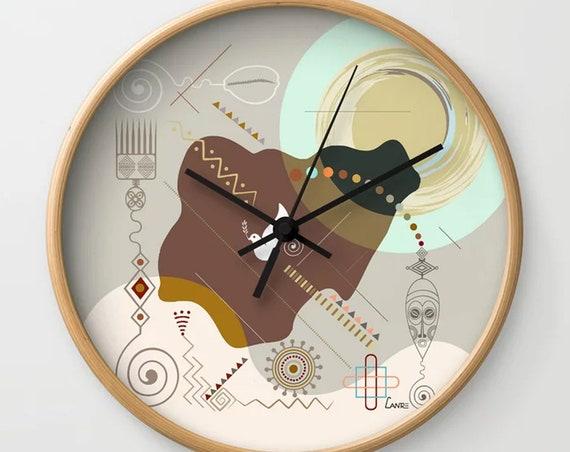 Nigerian Decor Art, Nigerian Gift, Nigerian Decor, Nigerian Map, Lagos Nigeria, Nigeria Clock, African Gift, African Art, African Decor