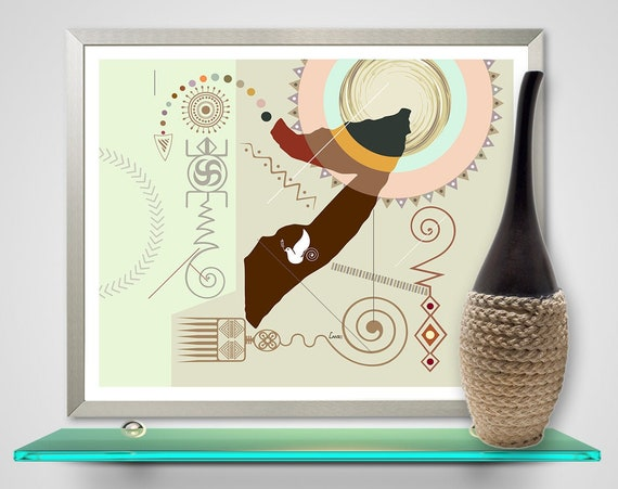 Somalia Map Art Print, African Countries Poster Gift