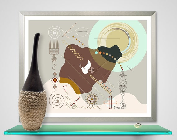 Nigeria Map Art Design, African Design Decor
