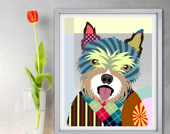 Norwich Terrier Art Print, Dog Lovers Gift