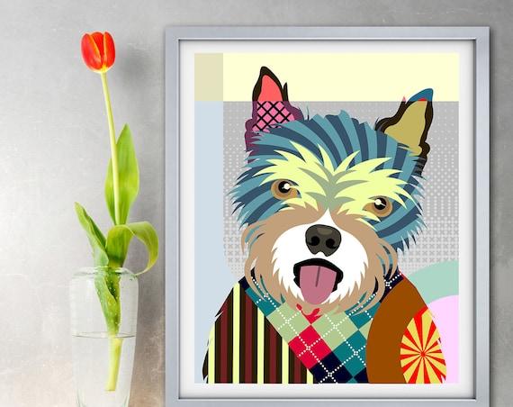 Norwich Terrier Art Print, Dog Lovers Gift
