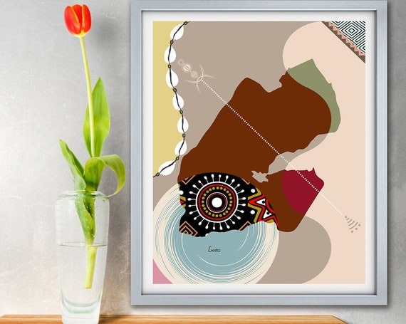 Djibouti Map Art Print, East African Country Poster
