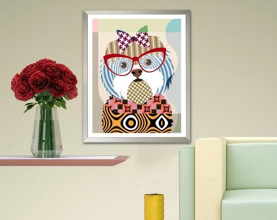 Shih Tzu Art Print, Dog Breed Poster Painting