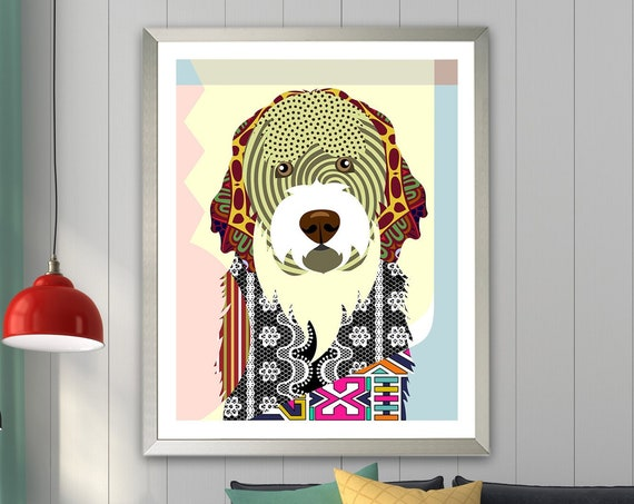 Portuguese Water Dog Art Print, Portie  PWD Poster