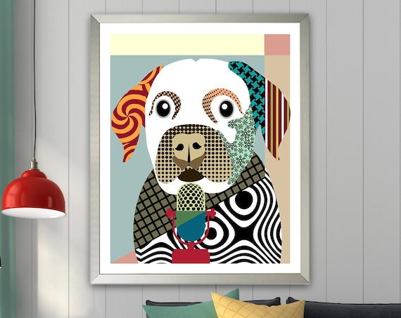 Labrador Retriever Art Print, Lab Dog Picture