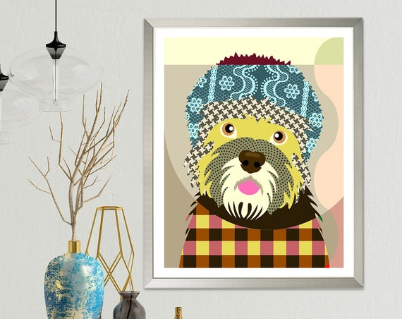 Dandie Dinmont Terrier, Dog Portrait Pop Art Print