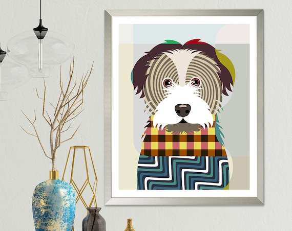 Havanese Dog Breed Art Print, Pet Portrait Animal Lover Gift