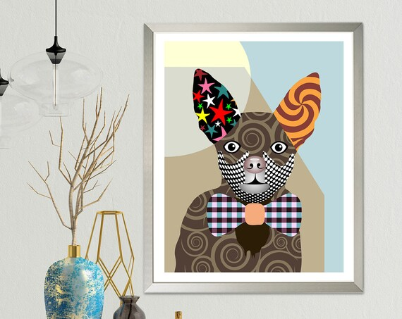 Chihuahua Art Dog Lover Gift, Pet Portrait Poster