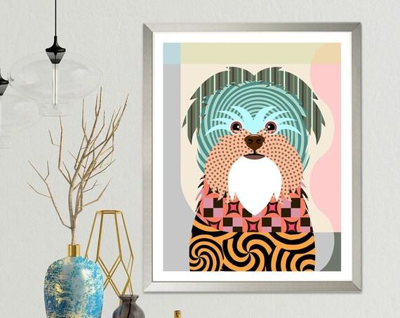 Affenpinscher Dog Art, Affen Affie Monkey Terrier Puppy Print