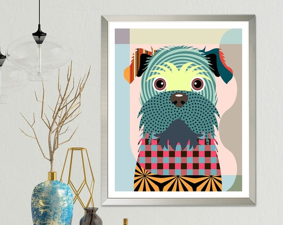 Brussels Griffon Art, Griff Dog Breed Pet Poster