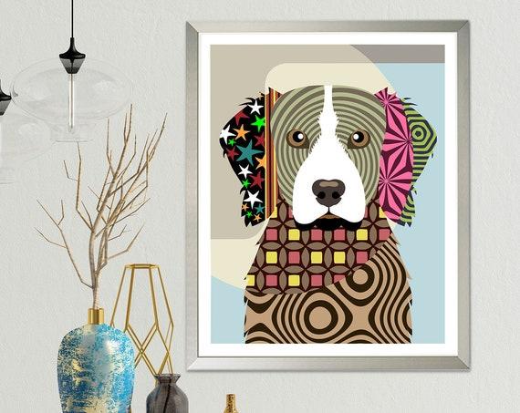 Brittany Spaniel Art, Dog Breed Poster Pet Portrait