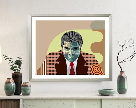 Muhammad Ali Art Print Poster, Boxing Legend Decor