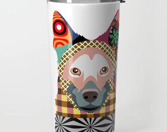 German Shepherd Tumbler Cup, Stainless Steel Mug