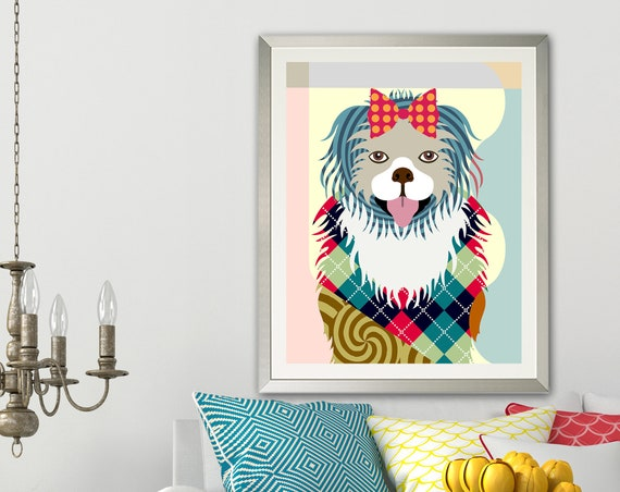 Pekingese Dog Print Poster, Pet Pop Art Decor