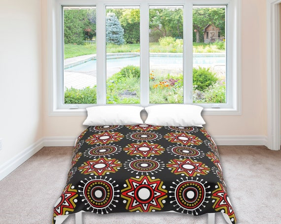 African Design Bedding, Afrocentric Duvet Cover