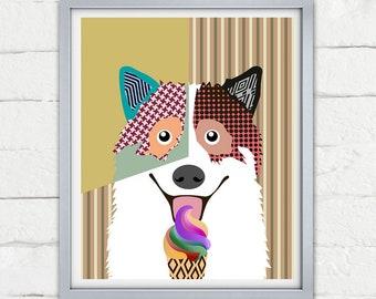 Thai Bangkaew Dog Poster, TBD Pet Portrait Decor