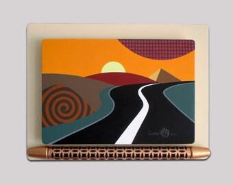 Original Artwork, Sunset Art, Sunset Painting, Original Acrylic Painting, Sunset Design, Sunset Decor, Wooden Painting