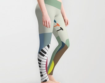 Cute Leggings, Printed Leggings, Womens Leggings, Plus Size Leggings,  Workout Leggings, , Active Wear, Printed Tights