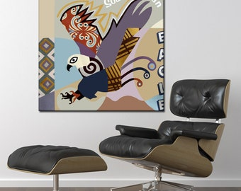 Original Bird Painting, Eagle Wall Art