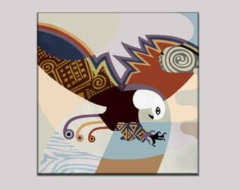 Eagle Painting Wall Decor, Abstract Bird Painting, Abstract Bird Art, Original Bird Art, Original Bird Painting, Acrylic Bird Painting