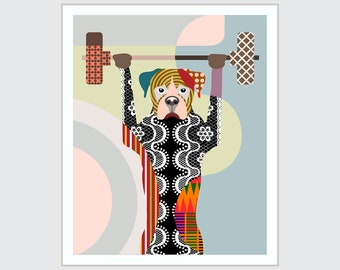 Boxer Dog Art, Funny Puppy Doggie Drawings