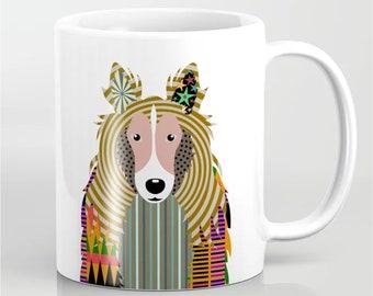 Sheltie Mug, Shetland Sheepdog  Ceramic Cup